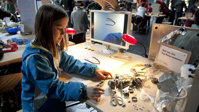 Young Maker at the Exploratorium.